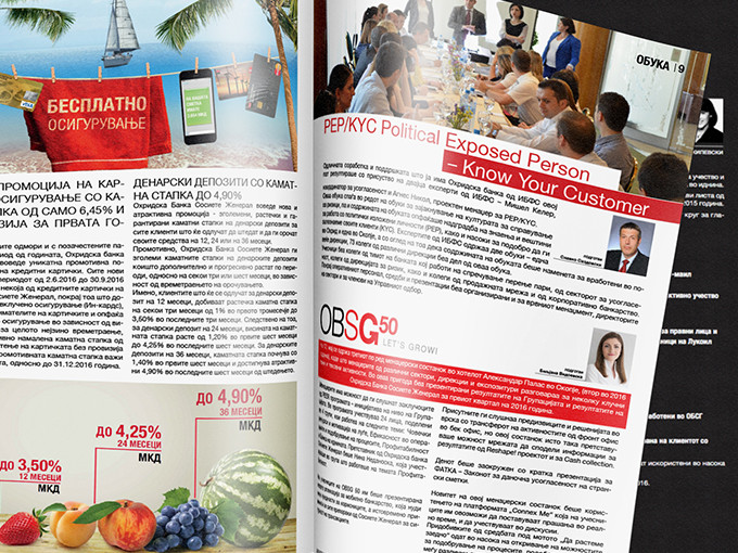 Corporate Magazine - Ohridska Banka